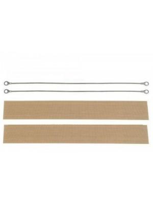 Teflon e resistência máquina selar sacos plástico 20 cm (2 pares)